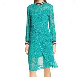 Ted Baker CBN Floral Dot Wrap Dress
